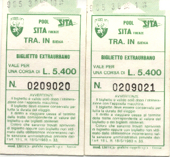 Siena Tickets